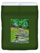 Fence Line Duvet Cover by Dan Stone