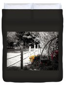 Fence Near The Garden Duvet Cover by Julie Hamilton