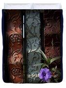 Fence Petunia Duvet Cover