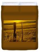 Fence Post In The Morning Light Duvet Cover