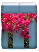 Fence With Bouganvillia Duvet Cover