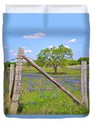 Fenced-in Beauty Duvet Cover by Lynn Bauer