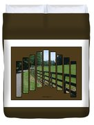 Fenced Pasture Duvet Cover