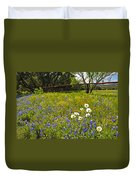 Fenceline Wildflowers Duvet Cover