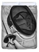 Fencing - Fencing Mask And Sword Duvet Cover