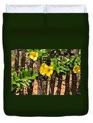 Fency Free Brazlian Flowers Duvet Cover