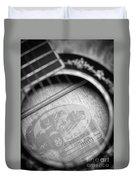 Fender Guitar Black And White 2 Duvet Cover