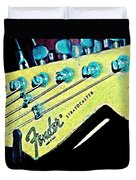 Fender Head In Watercolor Photo Duvet Cover