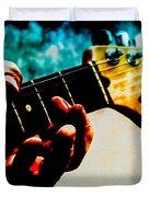 Fender Strat Duvet Cover by Bob Orsillo