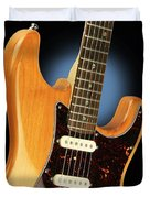 Fender Stratocaster Electric Guitar Natural Duvet Cover