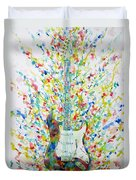 Fender Stratocaster - Watercolor Portrait Duvet Cover