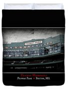 Fenway Memories - Poster 1 Duvet Cover