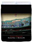 Fenway Memories - Poster 2 Duvet Cover