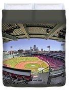 Fenway Park And Boston Skyline Duvet Cover