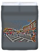 Fenway Park And Cask And Flagon Duvet Cover