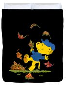 Ferald Dancing Amongst The Autumn Leaves Duvet Cover