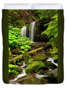 Fern Falls Panoramic Duvet Cover