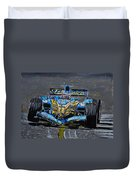 Fernando Alonso In Blue Duvet Cover