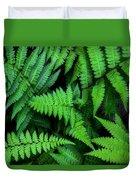 Ferns Along The River Duvet Cover