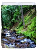 Ferns Dancing By The Creek Duvet Cover