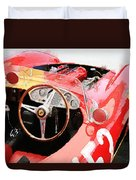 Ferrari Cockpit Monterey Watercolor Duvet Cover