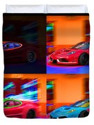 Ferrari Collage Duvet Cover
