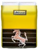 Ferrari Dino Grille Emblem -0750c Duvet Cover