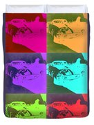 Ferrari Gto Pop Art 3 Duvet Cover by Naxart Studio