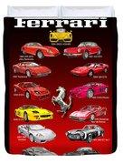 Ferrari Poster Art Duvet Cover by Jack Pumphrey