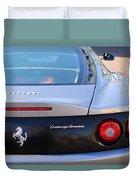 Ferrari Rear Emblem - Taillights -0089c Duvet Cover