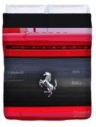 Ferrari - Rear Grill And Stallion Badge Duvet Cover