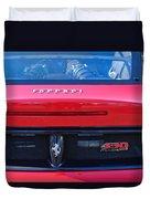 Ferrari Scuderia 430 Rear Emblems Duvet Cover