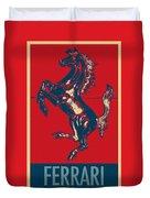 Ferrari Stallion In Hope Duvet Cover