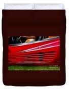 Ferrari Testarossa Red Duvet Cover
