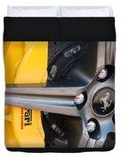 Ferrari Wheel - Brake Emblem Duvet Cover