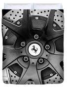Ferrari Wheel Emblem - Brake Emblem -0430bw Duvet Cover