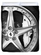 Ferrari Wheel Emblem Duvet Cover