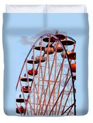 Ferris Wheel At Sunset Duvet Cover