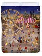 Ferris Wheel At The Carnival Duvet Cover