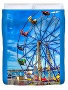Ferris Wheel - Balboa Fun Zone Duvet Cover