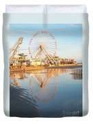 Ferris Wheel Jersey Shore 2 Duvet Cover