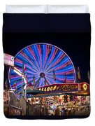 Ferris Wheel Rides And Games Duvet Cover