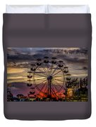 Ferris Wheel Sunset Duvet Cover