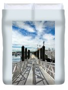 Ferry Dock Duvet Cover