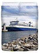 Ferry From North Sydney-ns To Argentia-nl Duvet Cover