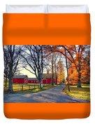 Ferry Lane November Sunset Duvet Cover