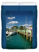 Ferry Station Paradise Island Duvet Cover