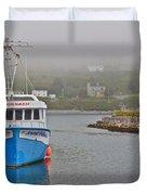 Ferryland Harbour-nl Duvet Cover
