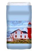 Ferryland Lighthouse In Newfoundland Duvet Cover