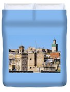Fes Cityscape In Morocco Duvet Cover